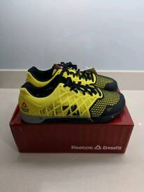 Reebok Nano 4 Crossfit trainers Uk10 Yellow and Black
