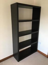 Ikea Black/ Brown Bookcase Shelving Unit