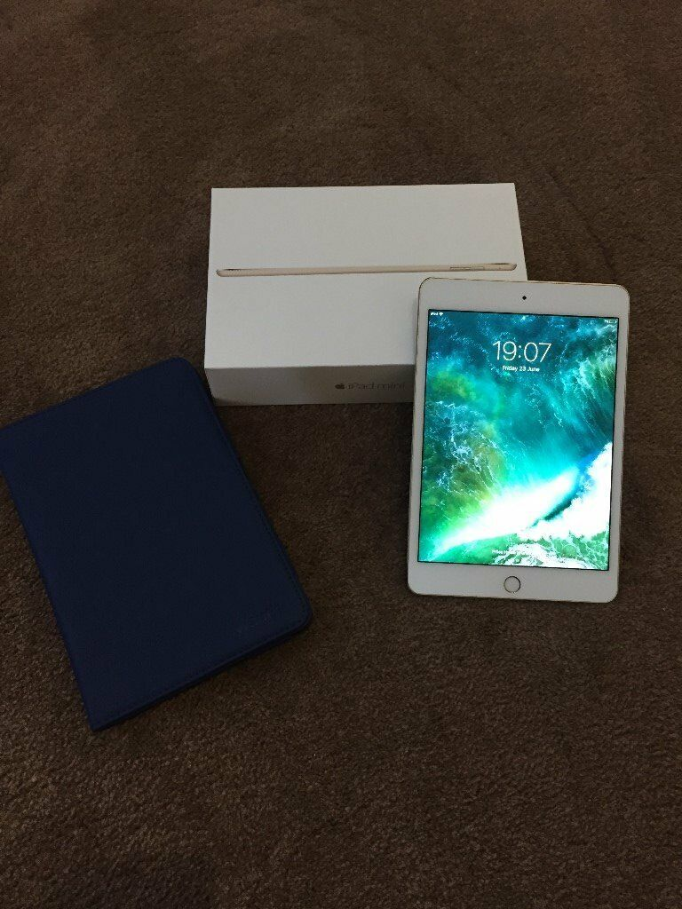 iPad Mini 432GB Wifi (White/Goldin Swanage, DorsetGumtree - iPad Mini 4 32GB (White/Gold) I am selling my iPad Mini 4 which I have owned for approx. 4 months. Item is in great condition and has no scratches or marks on it. Item has always been in a protective case as pictured. I used occasionally for...