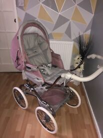 Bebecar Stylo Class pram in Cotton Candy