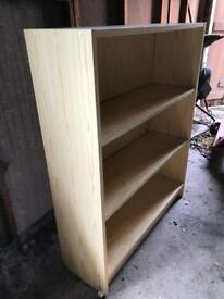 Pine Effect Deep Bookcase