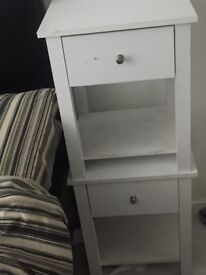 Two bedside drawer