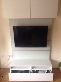 Ikea tv stand with draws and cupboards