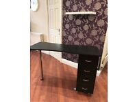 Black Manicure Nail Table Desk