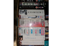 LARGE BOX OF 32 DVDs INCLUDING 29 BOXSETS