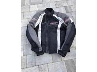 Motorbike jacket with full Knox armour