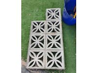 Concrete Screen Breeze Moulding Decorative Wall Block Floral Petal 16 for sale