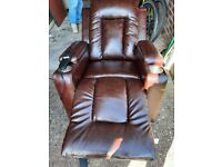 Electric leather reclining arm chair