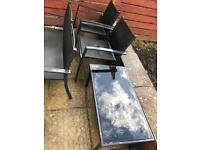 Garden furniture - table, 2x chairs and couch