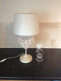 Love heart lamp and candle holder