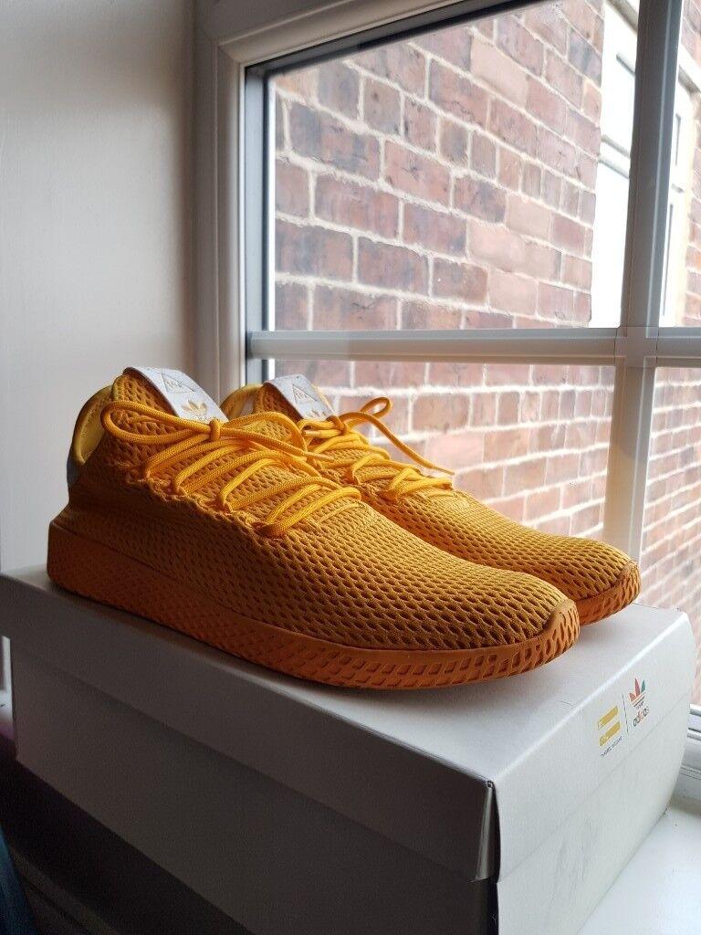 c63d35267df4c ADIDAS x PHARRELL WILLIAMS TENNIS Hu YELLOW COLLEGIATE GOLD size 11.5 US   11 UK MEN Shoes