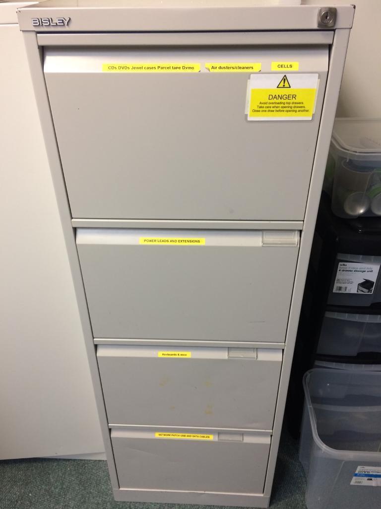 Free - Bisley Metal Filing Cabinet (Located at Havant PO9 1QN)