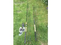 2 course fishing rods