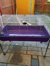 Large indoor rabbit cage with stand