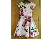 Ted Baker girl's floral party dress age 10
