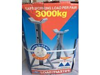 3 Ton 3000kg 2 Axle Stands Brand new Boxed