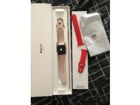 Apple Watch series 3 38mm in rose gold 4g &gps model