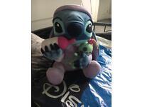 Stitch teddy with bottle&doll