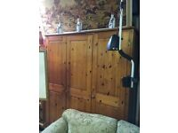 WARDROBE PINE TRIPLE GOOD CONDITION CAN DELIVER £120 07476 970860 PLEASE LOOK AT MY OTHER ITEMS