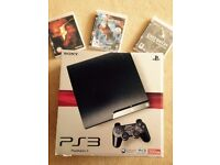 Playstation 3 (PS3) Slim 250GB + Controller + 3 Games - All in as New Condition