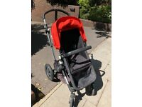 Bugaboo Cameleon 3 with footmuff, carrycot and rain cover in Orange/Black