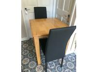Small table and 2 x chairs