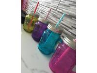 Coloured mason jars