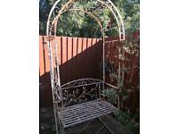 Free rose arch and bench-rusty collection only