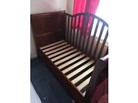 Dark wood nursery furniture used but fab condition!