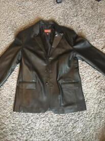 hElium men's leather jacket