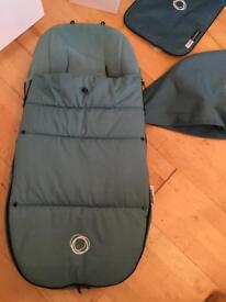 Bugaboo petrol blue footmuff in excellent condition £40