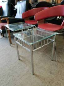 Glass top side tables priced each
