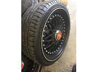 Bbs replicas 17 wheels and tyres 4x 100