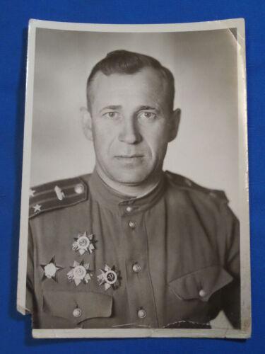 1945 WW2 Soviet military officer tank PHOTO 3 Great Patriotic War Red Star USSR