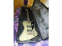 Epiphone Ltd. Edition 'TV Silver' Thunderbird IV Bass with Epiphone Hard Case
