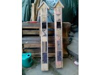 Hand crafted wooden bug houses, 8 tier, able to fix to walls in a quiet spot in the garden