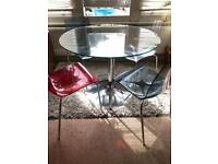 Next at Home glass table and chairs