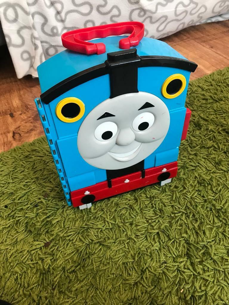 Thomas carry case and trains