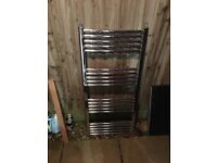 Chrome finish towel radiator