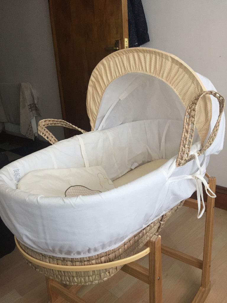 Balloon Baby Moses Basket and Basket Stand (Kinder Valley)