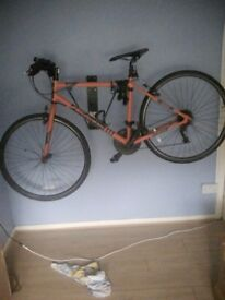 Men falcon bike thin wheels 26in wheels just needs a knew bike tyre 90 pound phone 07805341833