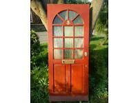 Wood Front Door + all brass furniture