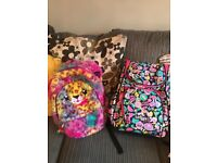 2 x girls smiggles bags