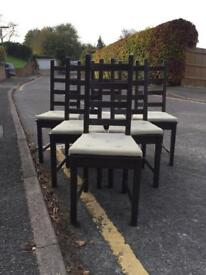 Set of 6 chairs - brown IKEA Kaustby