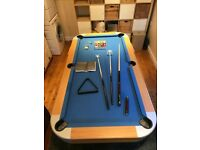 RILEY 6ft x 3ft Folding POOL TABLE - Very good condition