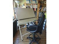 Drawing Board and Chair