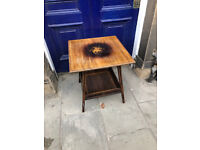 Rosewood and Inlaid Two Tier Side Table. In good condition, very good quality . Must be seen.