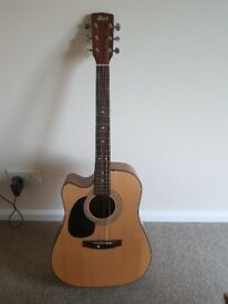 Left handed guitar cort electric acoustic