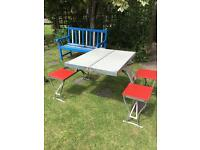 Vintage Picnic Table and Chair set