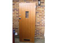 Cottage style wooden front door